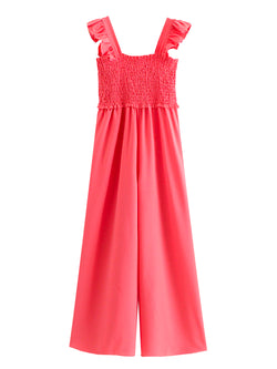 'Dahlia' Frilled Sleeve Wide Leg Jumpsuit