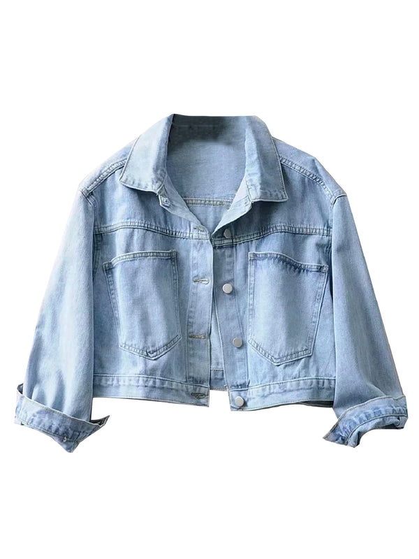 'Bahar' Cropped Denim Jacket