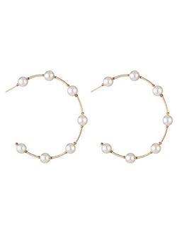 'Peppy' Pearl Hoop Earrings