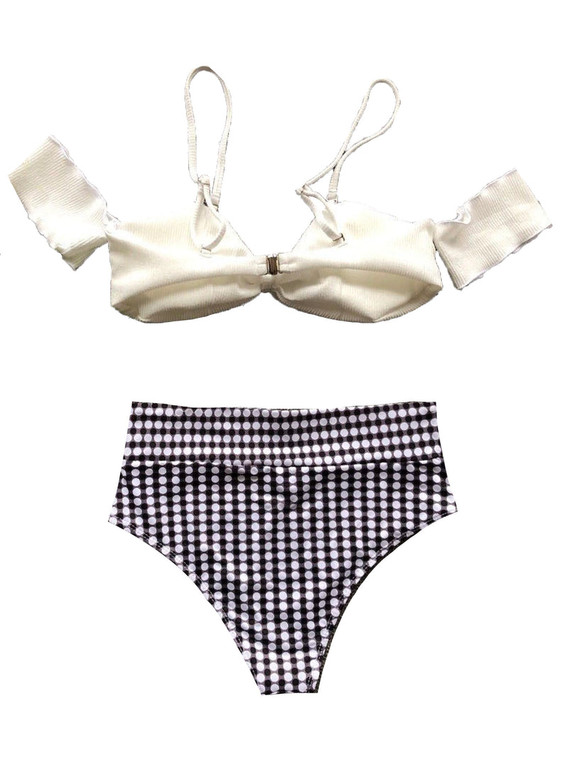 'Kyla' Off The Shoulder High Waist Bikini Set