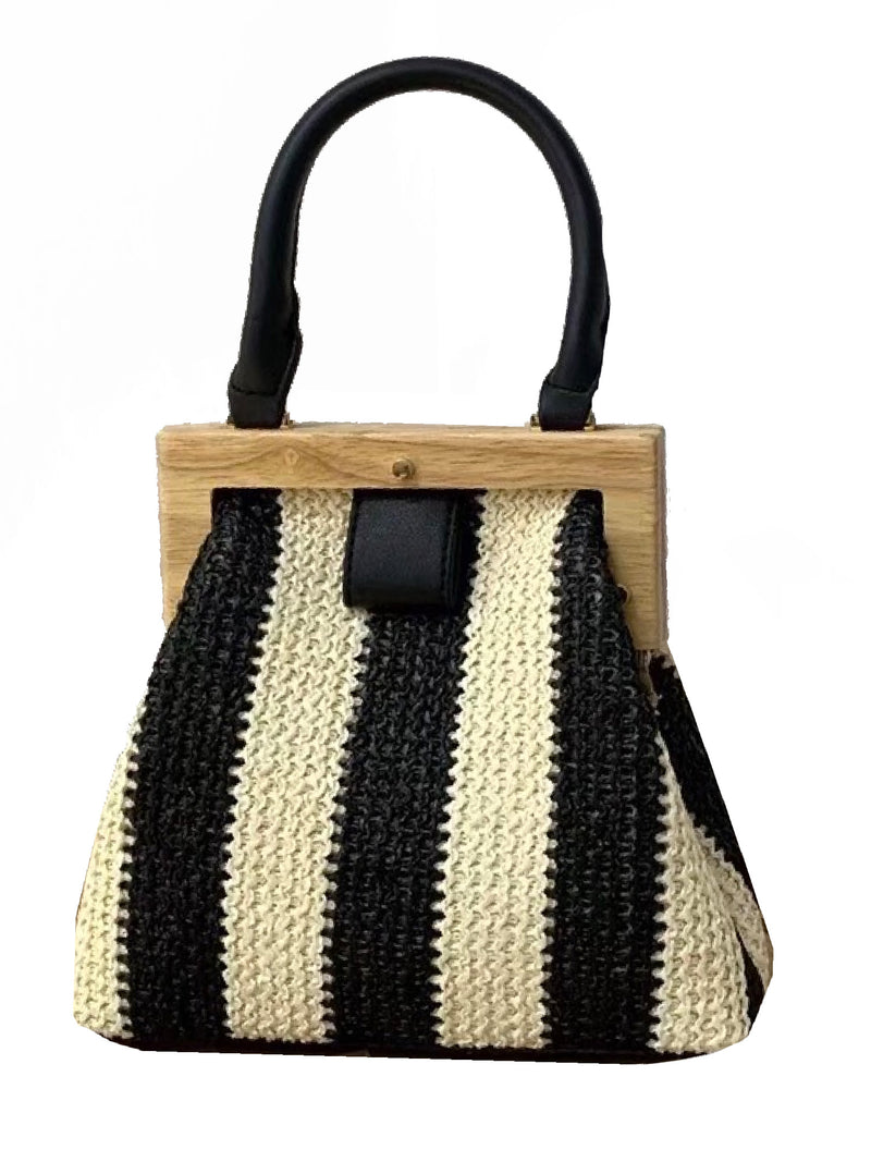 'Petras' Rattan Top Handle Bag (3 Colors)