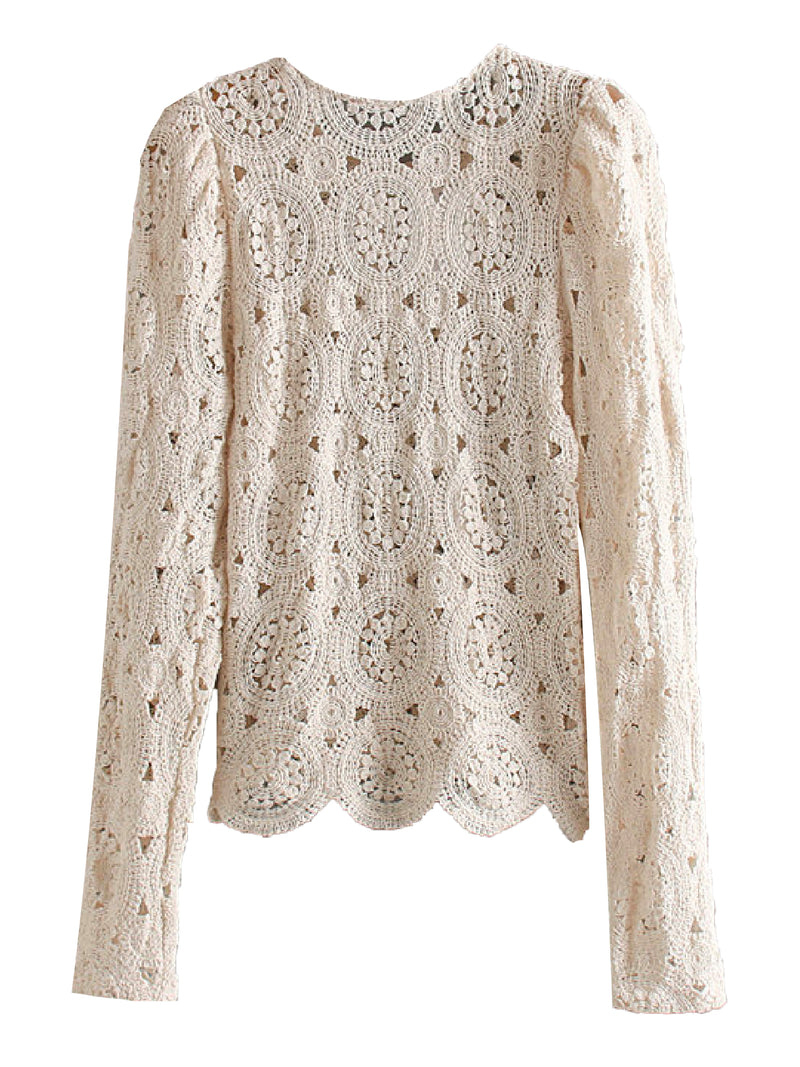 'Chelsea' Crochet Long Sleeve Top