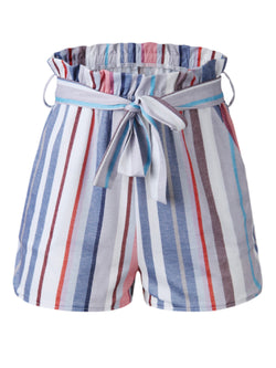'Mank' Striped Paper Bag Shorts (3 Colors)