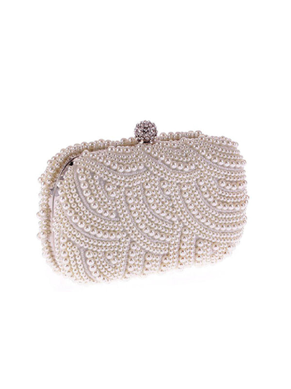 'Nicole' Pearl Embellished Clutch (3 Colors)
