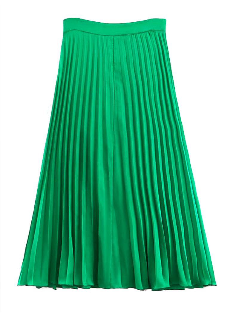 'Caillat' Pleated Midi Skirt