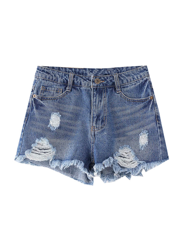 'Lainie' Distressed Denim Shorts