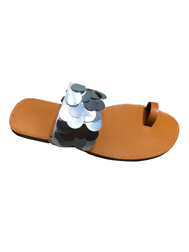 'Anjay' Sequin Toe Loop Sandals (2 Colors)