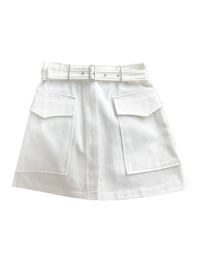 'Gennie' Belted Cargo Mini Skirt (3 Colors)