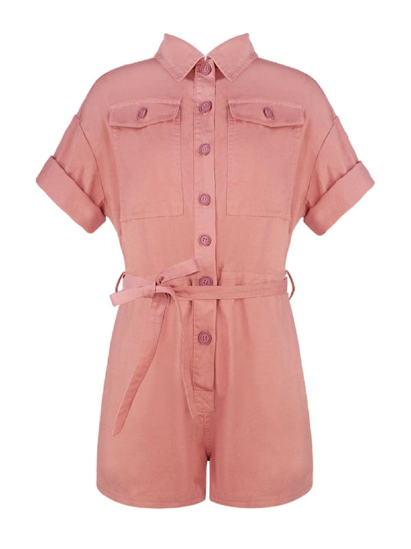 'Chia' Belted Utility Boiler Suit