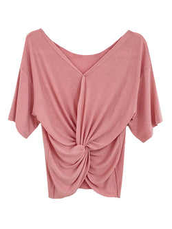 'Deli' Twisted Front Slouchy T-Shirt (5 Colors)