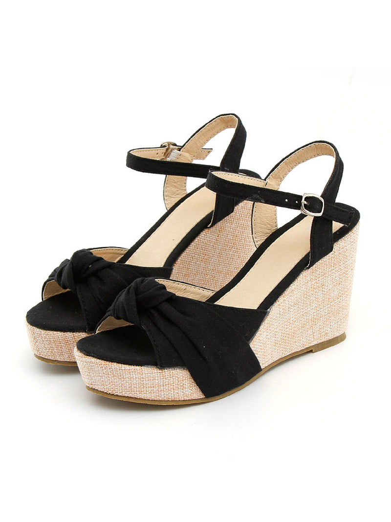 'Yunnie' Open Toe Wedge Sandals (2 Colors)