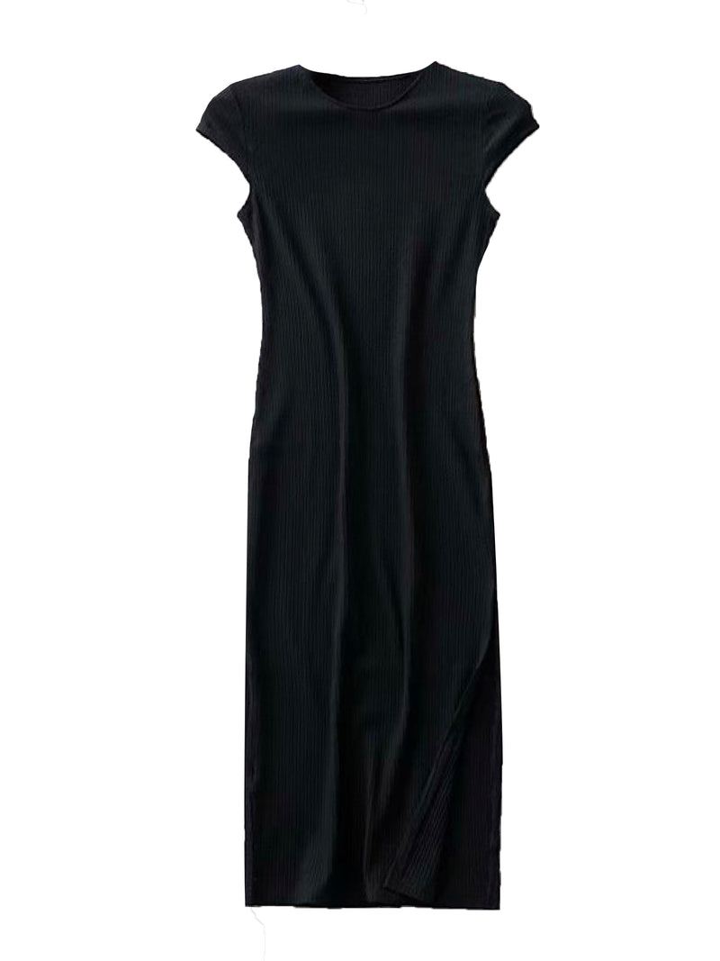 'Elanna' Ribbed Midi Dress (3 Colors)