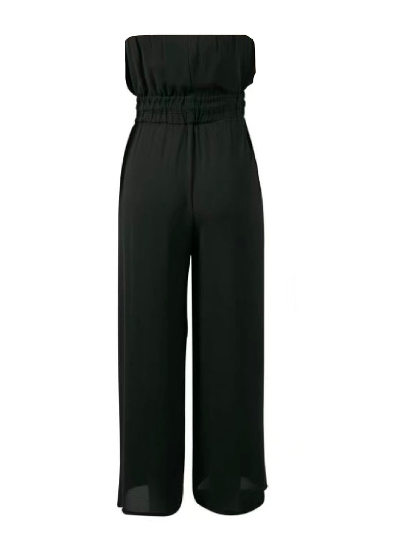 'Hayda' Sleeveless Tied Waist Jumpsuit
