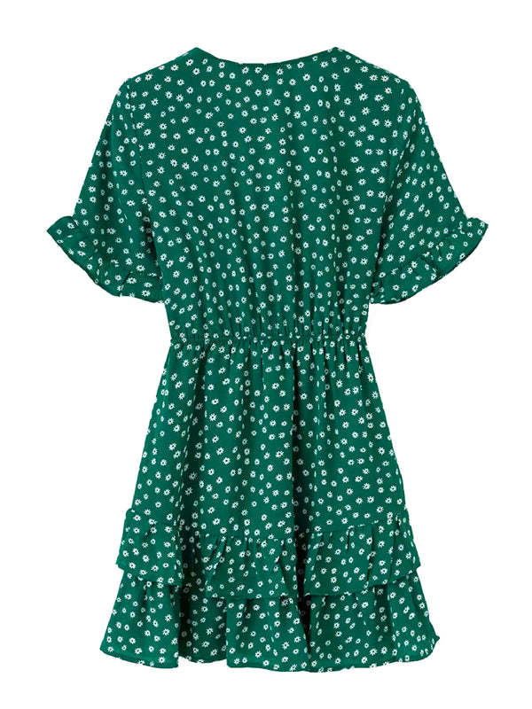 'Janet' Floral Front Tied Dress