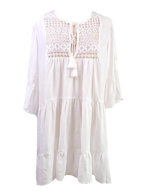 'Gianie' Crochet Tassels Beach Cover-up