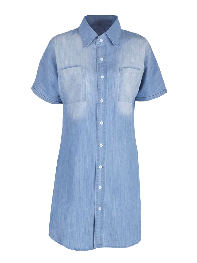 'Miram' Chambray Shirt Dress
