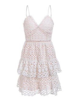 'Ever' Crochet Lace Mini Dress (2 Colors)