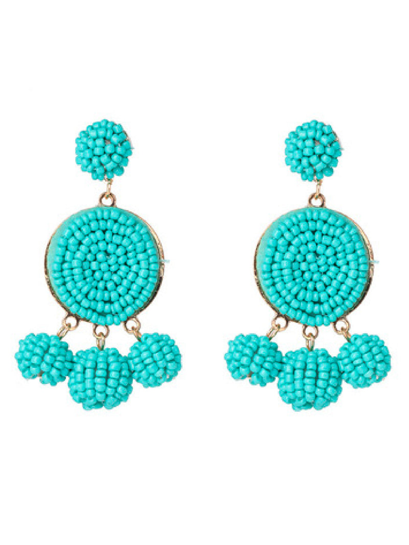 'Ikie' Beaded Statement Earrings (9 Colors)