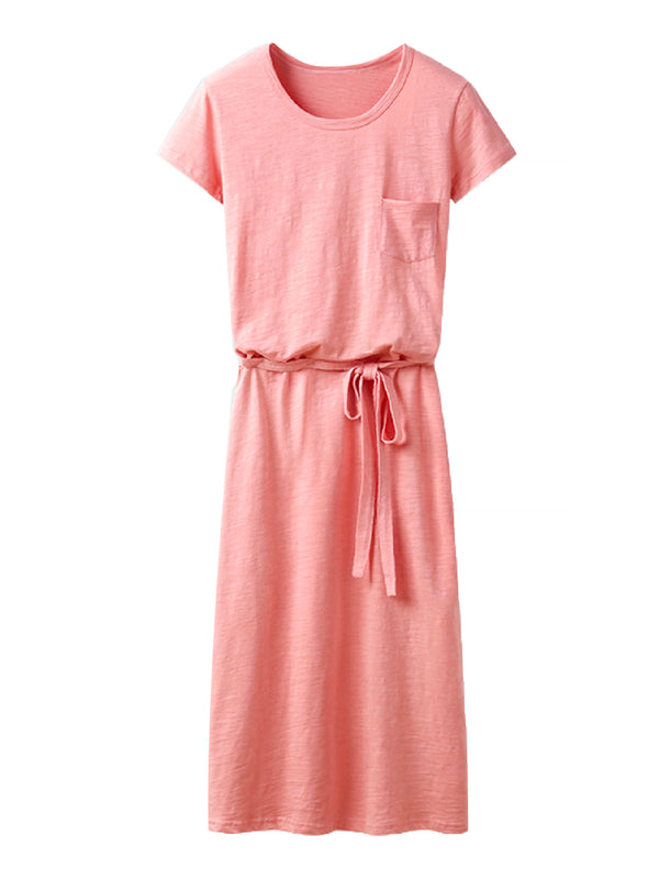 'Dannielle' Tied Waist T-Shirt Dress (3 Colors)