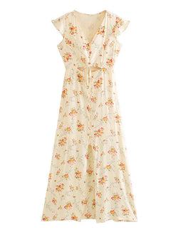 'Nondy' Floral Cap Sleeves Dress