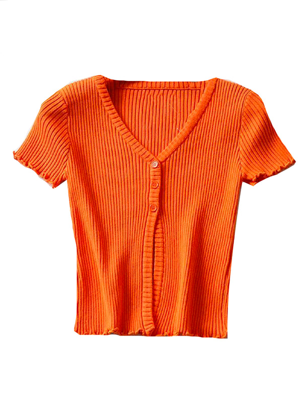 'Lunie' Ribbed Knit Top (4 Colors)