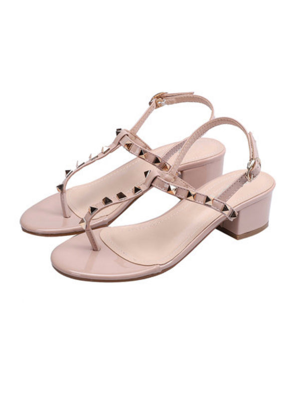 'Judy' Studded Heeled Sandals (4 Colors)