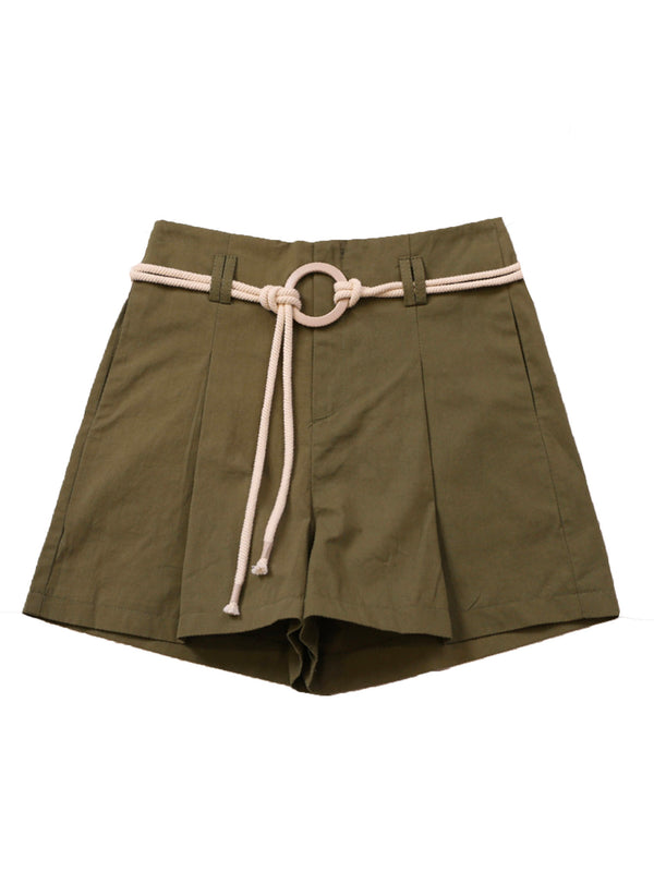 'Rain' Rope Belt Shorts (3 Colors)