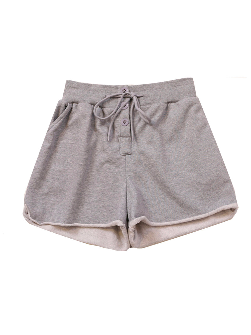 'Jace' Drawstring Cotton Jersey Shorts (3 Colors)