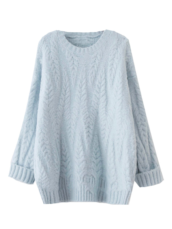'Greer' Soft Cable Knit Sweater (3 Colors)