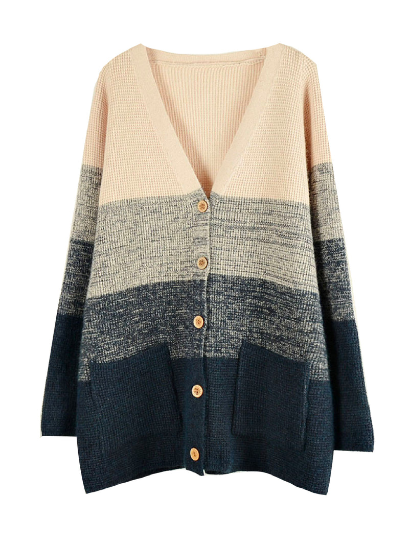 'Bruna' Color Block Knitted Cardigan (2 Colors)