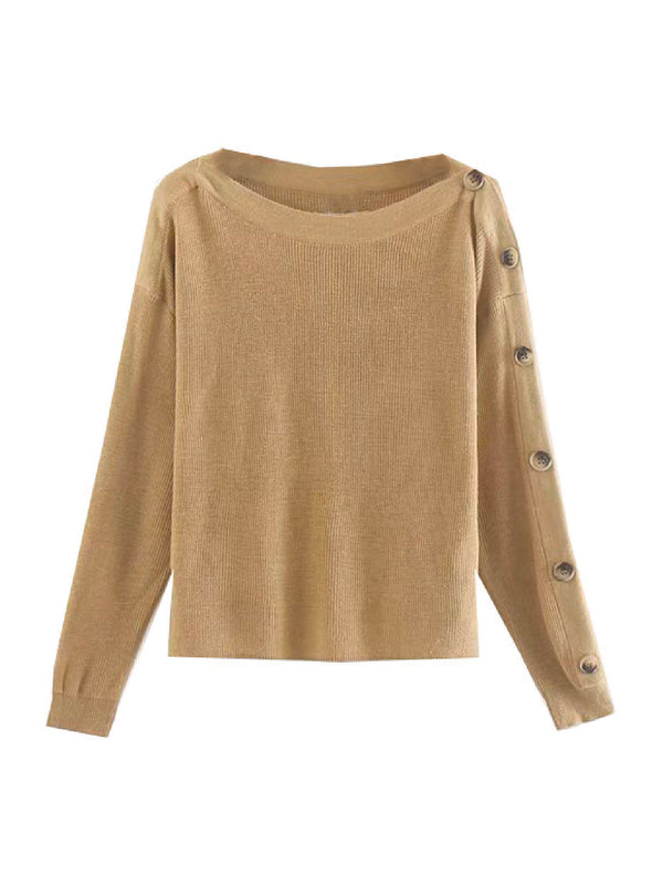 'Myon' Side Button Knitted Sweater
