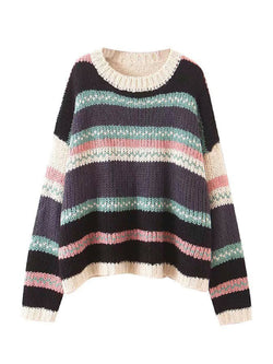 'Regis' Color Block Knitted Sweater (2 Colors)