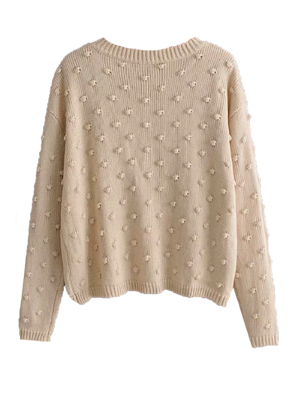 'Roddy' Pom Pom Knitted Sweater