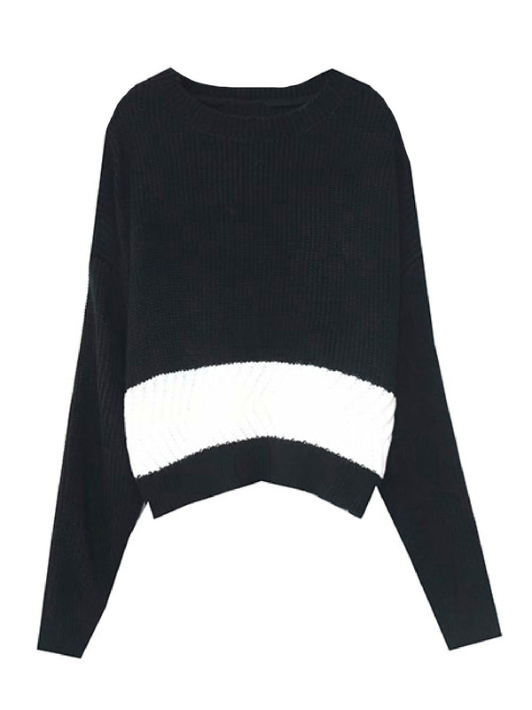 'Jin' Bicolor Lightweight Sweater (2 Colors)