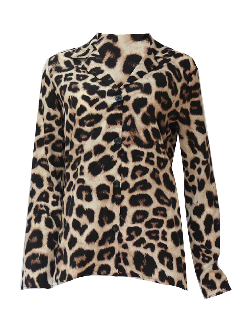 'Manta' Leopard Print Shirt (4 Colors)