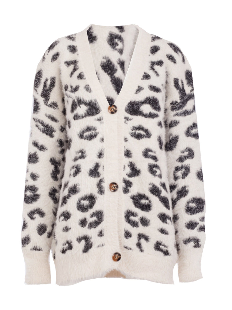 'Melody' Leopard Print Fluffy Cardigan (5 Colors)