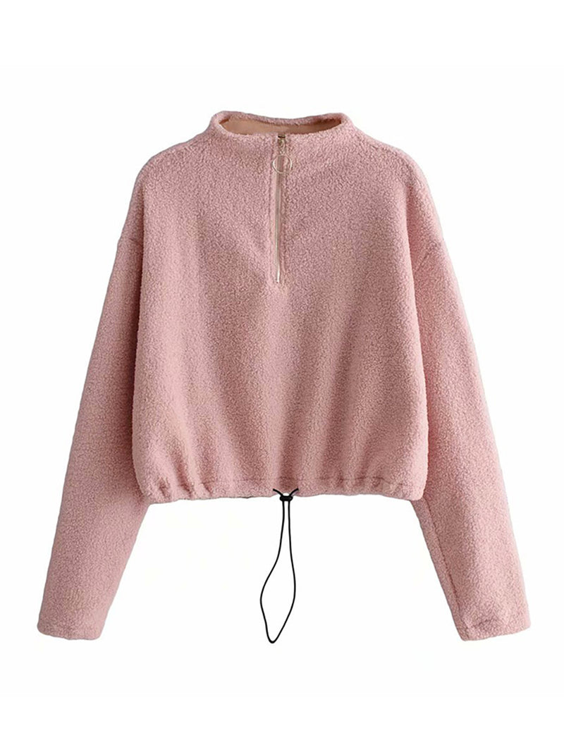 'Sienna' Cinched Waist Fleece Pullover (2 Colors)