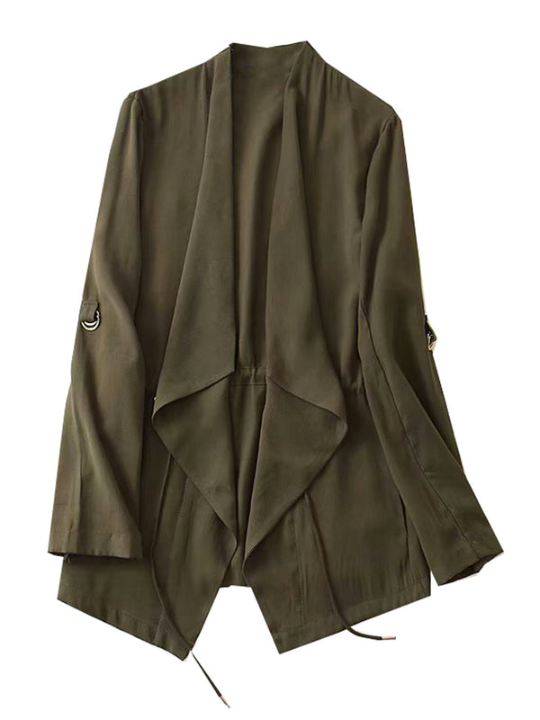 'Sophie' Waterfall Front Jacket (2 Colors)