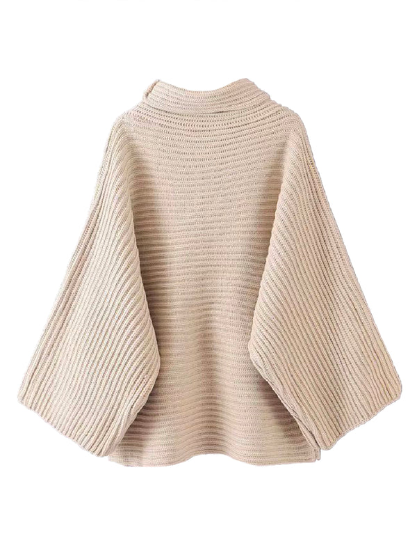 'Fuji' Funnel Neck Knitted Sweater