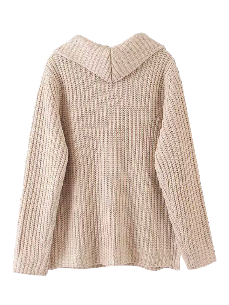 'Laujor' Knitted Half-Zip Sweater