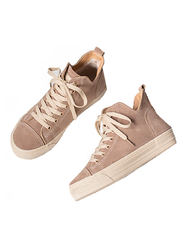 'Margot' Fleece Lining Hi-Top Sneakers (2 Colors)
