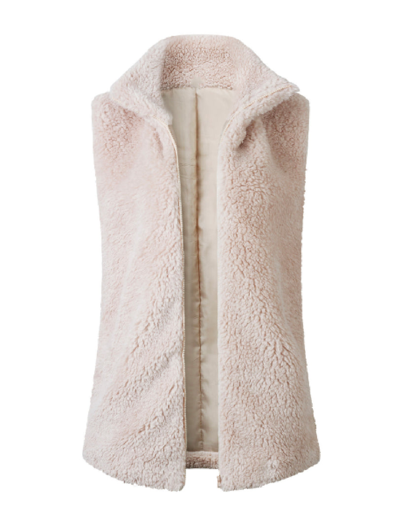 'Cece' Fleece Zip-UP Vest (3 Colors)