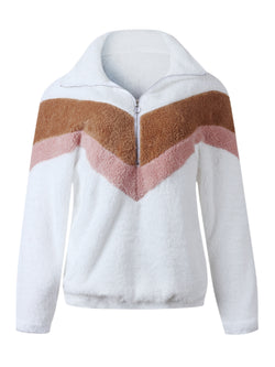 'Teagan' Chevron Fleece Pullover (5 Colors)