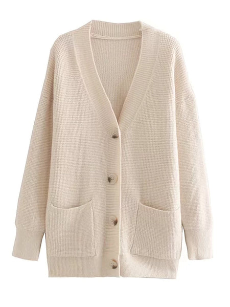 'journee' Waffle Knit Cardigan (6 Colors) by Goodnight Macaroon