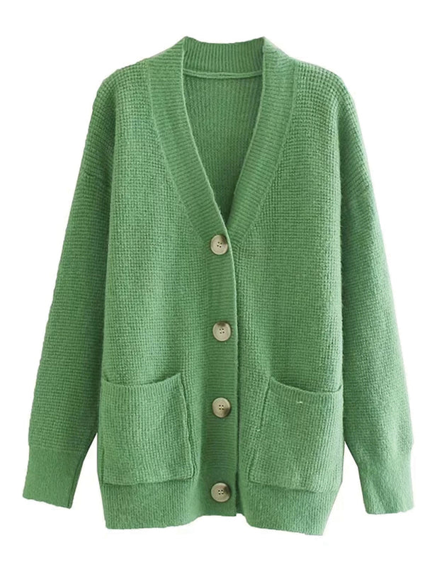 'Journee' Waffle Knit Cardigan (6 Colors)