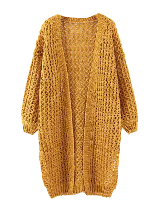 'Everleigh' Open Knit Long Cardigan (3 Colors)