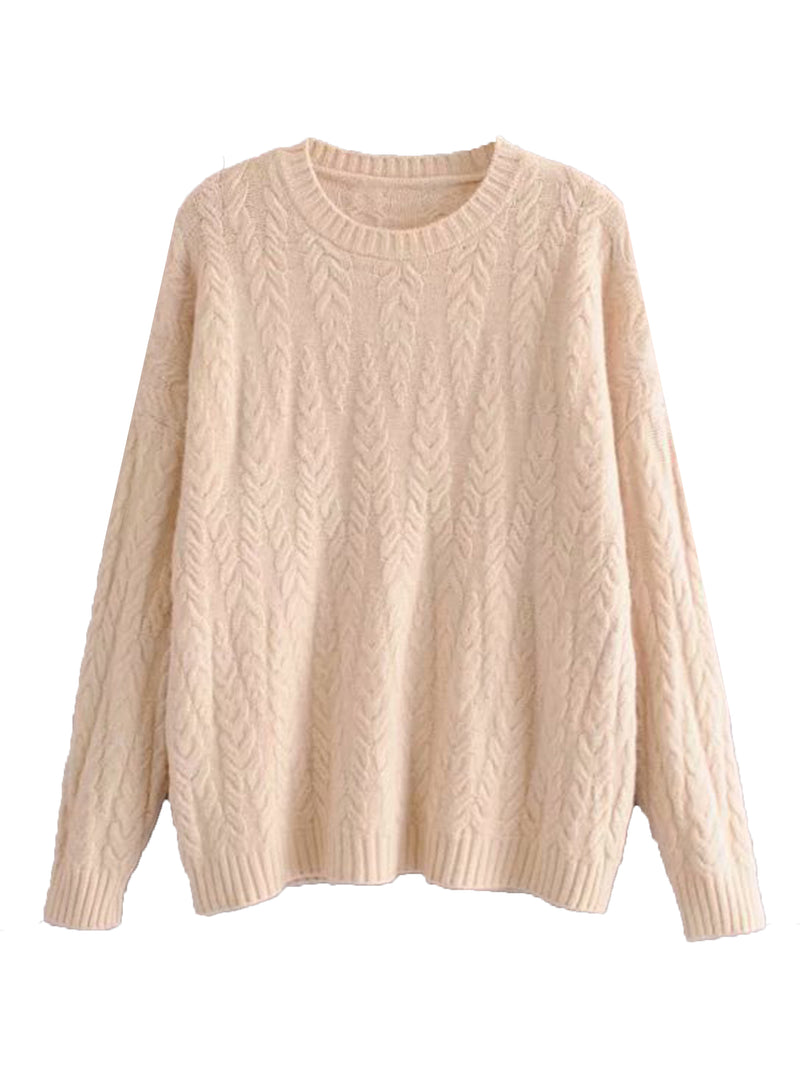 'Magnolia' Cable Knit Sweater (3 Colors)