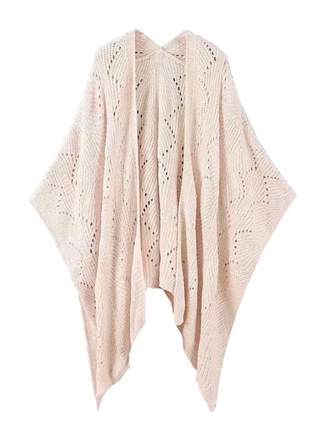 'robbie' Chenille Openwork Cape (2 Colors) by Goodnight Macaroon