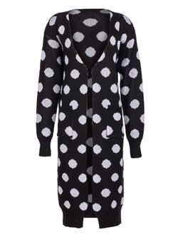 'Dab' Polka Dot Open Cardigan (3 Colors)