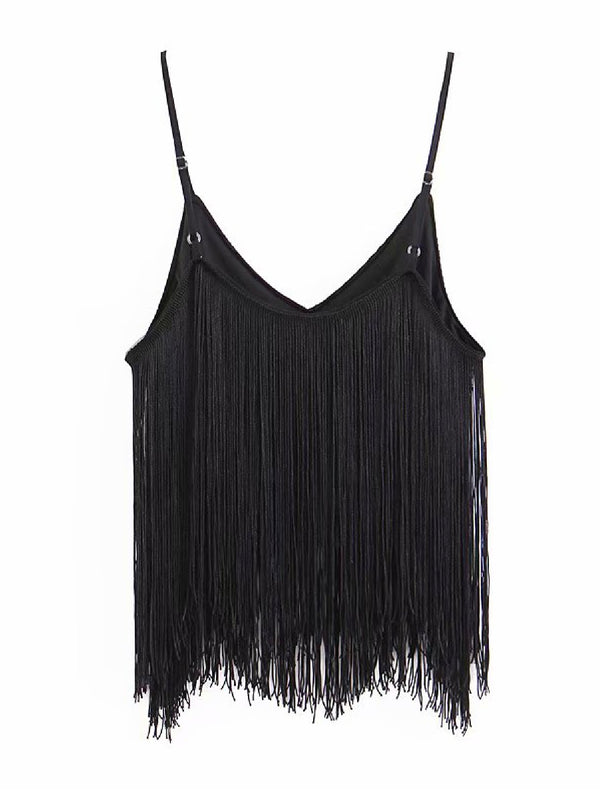'Flora' Fringed Cami Top